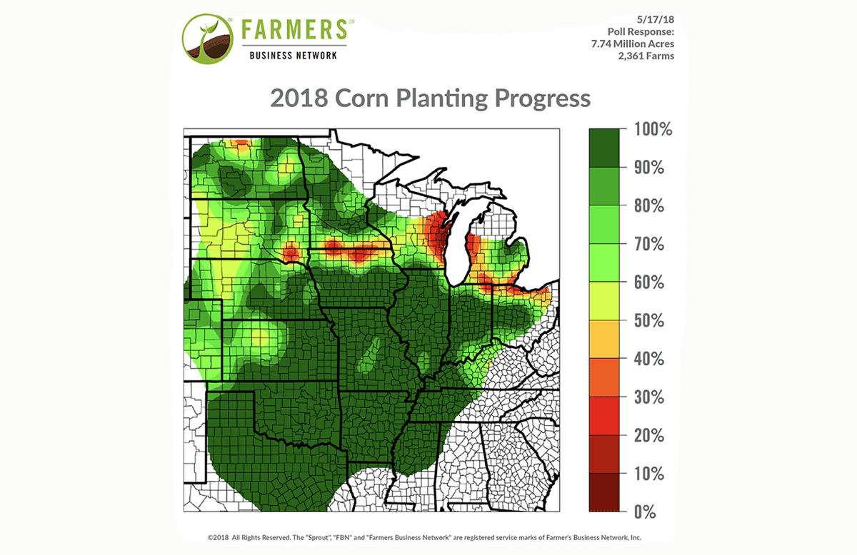 corn planting progress may 2018